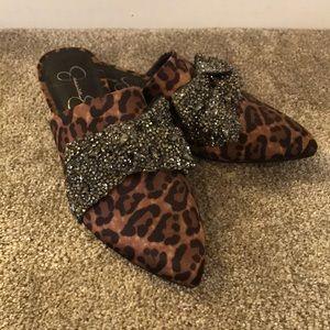 Jessica Simpson leopard mules💜💗💜